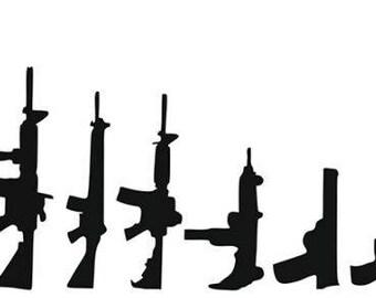 Gun Family Decal