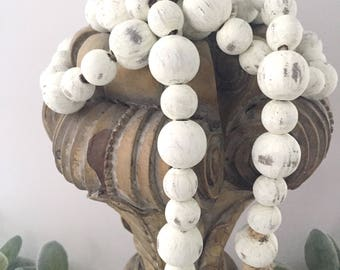Farmhouse Beads | Farmhouse Decor | Home Decor Beads | Wood Beads | Wood Bead Garland