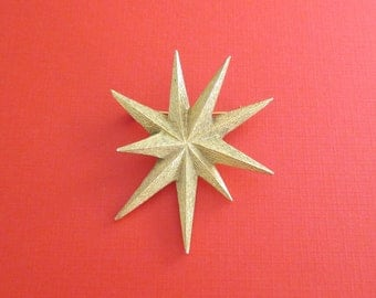 Coro Starburst Pin Brooch - Designer Signed - Star