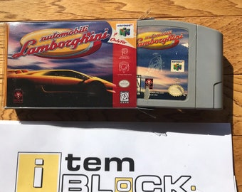 Automobili Lamborghini - Nintendo64 (AUTHENTIC) - w/ Mini-Box Case