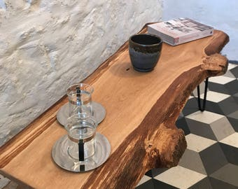 Solid Oak Live Edge Coffee Table, Made in Scotland.