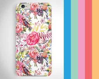 Floral iPhone case, floral iPhone 7 case, iPhone 6 floral case, Floral case with roses for iPhone 7 plus, floral iphone 6s case