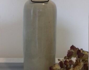 Antique stoneware hot-water bottle