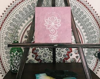 Lotus Flower on Canvas