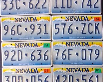 8  Nevada embossed license plates