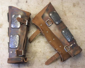 Medieval Leather Bracers | Vambracers | Leather Armour