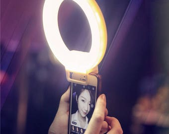 Selfie Light Ring Compatible with all smart phones Rechargable