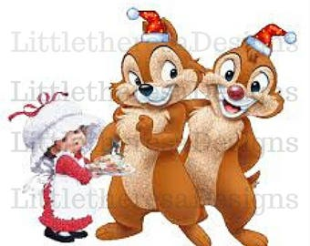 Chip N Dale Christmas Transfer