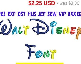 Sale 25% Walt Disney font Embroidery/ Walt Disney Font embroidery design/ INSTANT download