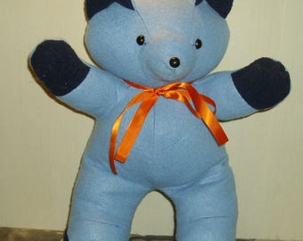 Blue Teddy bear for small or large