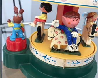 Vintage Corgi Magic Roundabout Carousel and figures (1970s)