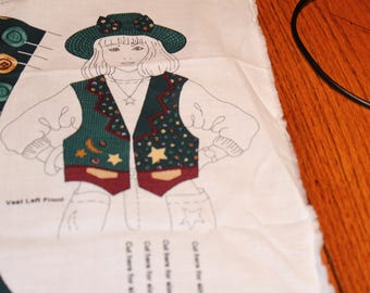 3.00 Each CHILD'S HAT and VEST Starry Night