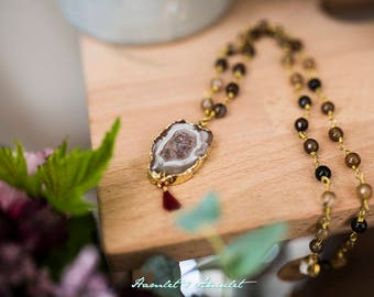 Necklace Agate Geode