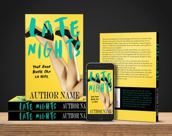 Premade ebook and print Book Cover - Late Nights