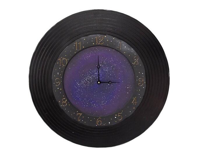 """24"""" Circle Wall Clock, Galaxy Wall Clock, Personalized Wall Clock, Unique Wall Clock, Custom Wall Clock, Circle Clock"""