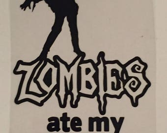 Zombies Ate My Stick Family Decal