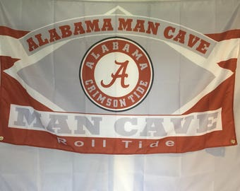 Alabama Man Cave Wall Flag