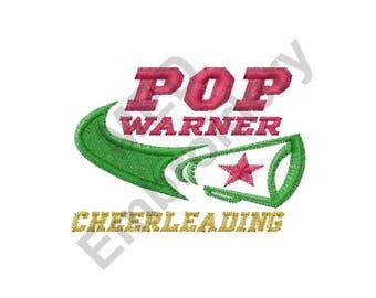 Cheerleading - Machine Embroidery Design, Pop Warner Cheerleading