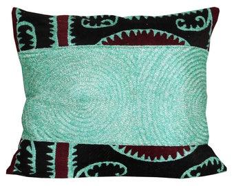 uzbek silk handmade embroidered suzani cushion pillow cover pillow 702