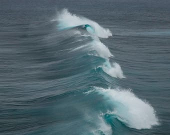 Ocean Wave Photo, Ocean Wave Wall Decor, Landscape Photography, Contemporary Art, Photos on Wood