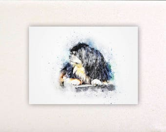 Dog - Watercolor prints, watercolor posters, nursery decor, nursery wall art, wall decor, wall prints 4 | Tropparoba - 100% made in Italy