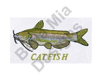 Catfish - Machine Embroidery Design, Fish