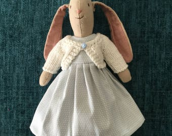 Maileg Mini Bunny Dress and Cardigan PDF Sewing Knitting Pattern