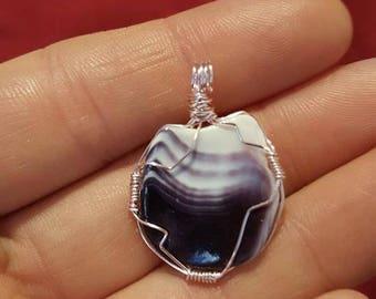 Quahog custom wire wrapped pendant
