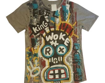 One of a kind, hand painted tee shirt.