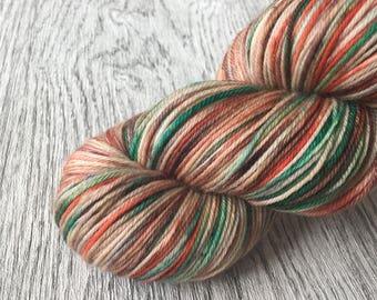 BOGY'S SPOT superwash Merino Wool. Indie dyed yarn, 100 g, fingering.