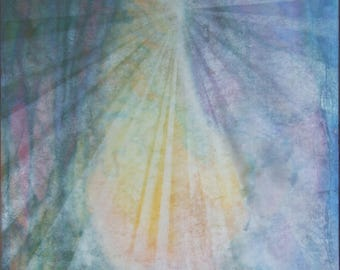 raggianze atmiche # 3, rays of the soul, spiritual art, painting