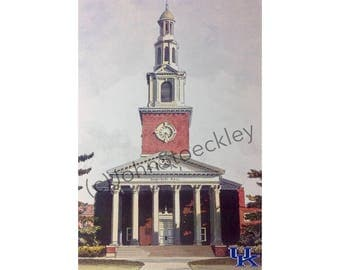 University of Kentucky LIMITED EDITION Pen and Ink and Watercolor Art Print Illustration by John Stoeckley