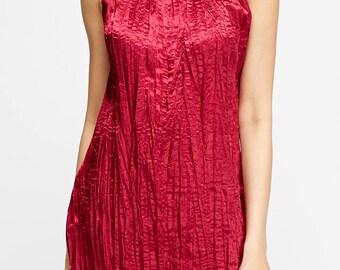 Women's Crinkled Halter Neck Dress