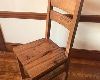 Custom Dining Chair, 2 Slat Back