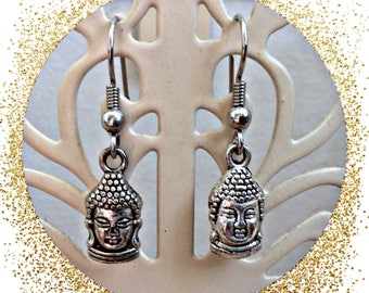 Buddha head earrings