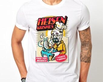 Mens Breaking Bad Heisenberg Walter White Funny - White T-Shirt