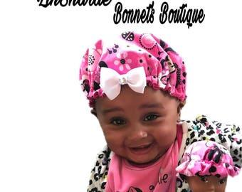 Satin Baby Bonnet