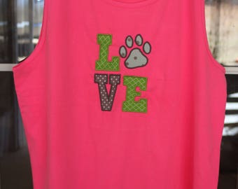 Love applique comfort love tank