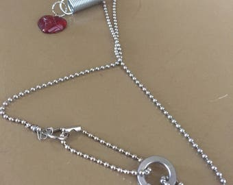 Heart Charm and spring necklace