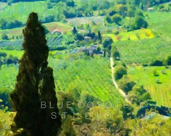 Tuscany Print, Italy Print Tuscany Landscape Print Tuscany Wall Art Digital Download Printable File #bc114