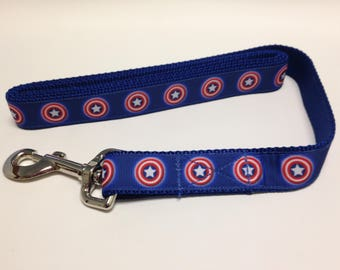 Blue Captain America Inspired Dog Leash, Blue Leash, Captain America Inspired Leash, Heavy Duty Leash, Dog Leash