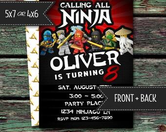 PRINTABLE Ninjago Themed Party Invitation [DOWNLOAD]
