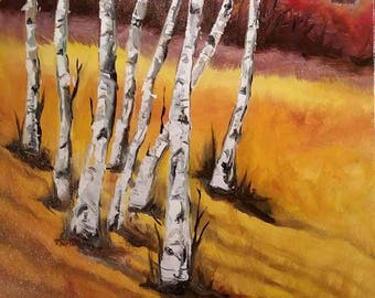 Birch Hill - original oil painting