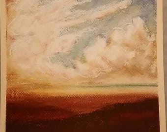 Land/Skyscape - original pastel