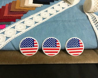 Circular American flag patch ,iron on patch ,embroidered patch  jacket patch ,cute patch,DIY