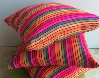 Pink Mexican pillow cover