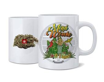 Weed Coffee Cup. Maui Wowie Coffee Cup. Hula Coffee Mug. Coffee Mug. Cannabis Coffee Cup. Cannabis Coffee mug. Weed Coffee Mug.Hula. Hula