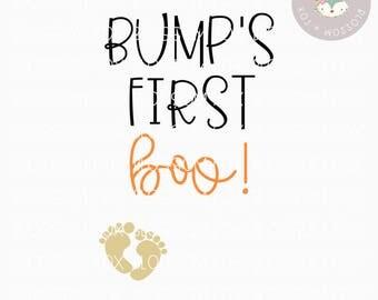 Halloween SVG, Bump's First Boo Svg, Pregnancy Svg, First Halloween, Bump Svg, baby bump, Halloween SVG File, Pumpkin Svg, Trick or Treat