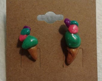 Quadruple Scoop Ice Cream Earrings