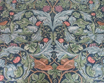 Vintage Liberty of London Acanthus and Vine William Morris fabric Remnant 54 x 140cm
